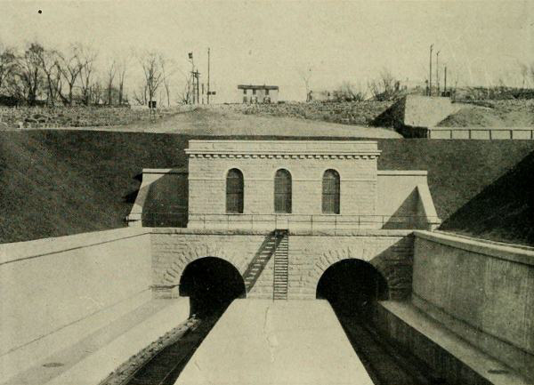 The existing tunnel portals were constructed in 1910.